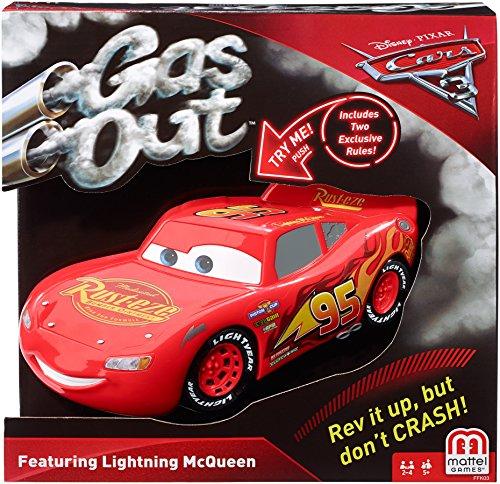 Gas Out Disney Pixar Cars Lightning McQueen Card Game Disney Pixar Cars Games