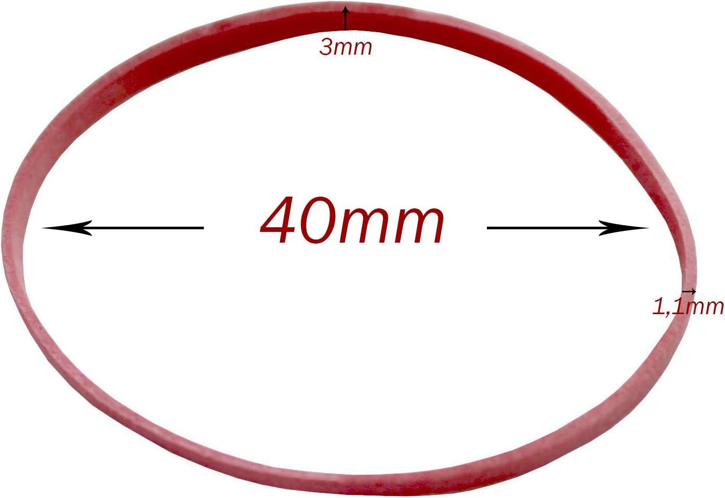 Gummib/änder-Ball Gummiringball Kugel aus Gummib/ändern Gummiringkugel /Ø40mm 1,2x3mm bunt Gummibandkugel mehrfarbig vielseitig verwendbar Gummikugel