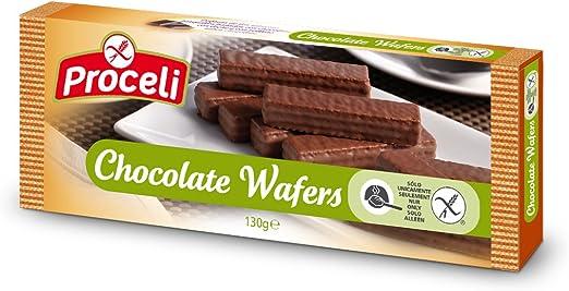 Proceli Chocolate Wafers Sin Gluten - 130 gr - [Pack de 12 ...