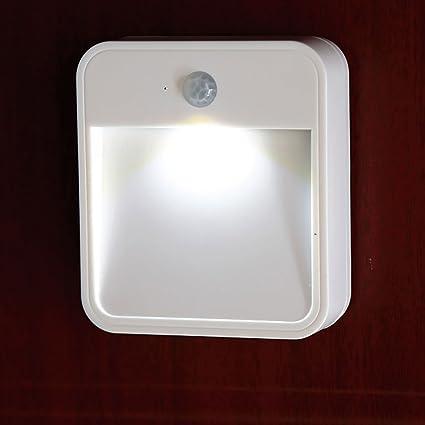 Sentik inalámbrica Funciona con Pilas Stick Interior en PIR Sensor de Movimiento LED luz de Noche