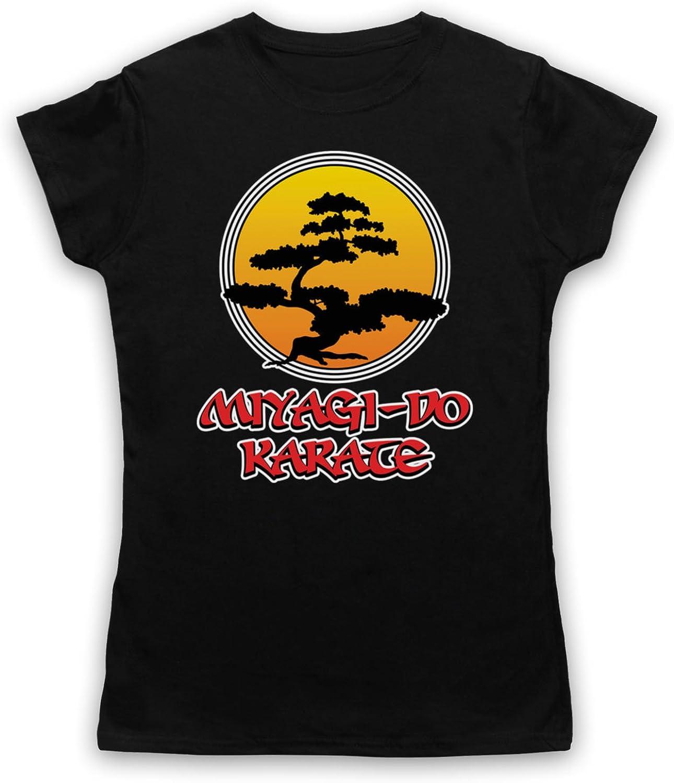 Inspired Apparel Inspirado por Karate Kid Miyagi Do Logo Bonsai Tree No Oficial Camiseta para Mujer