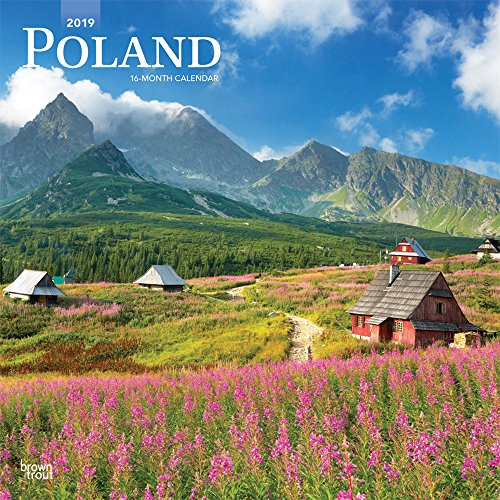Poland 2019 12 x 12 Inch Monthly Square Wall Calendar, Scenic Travel Europe Warsaw Polish