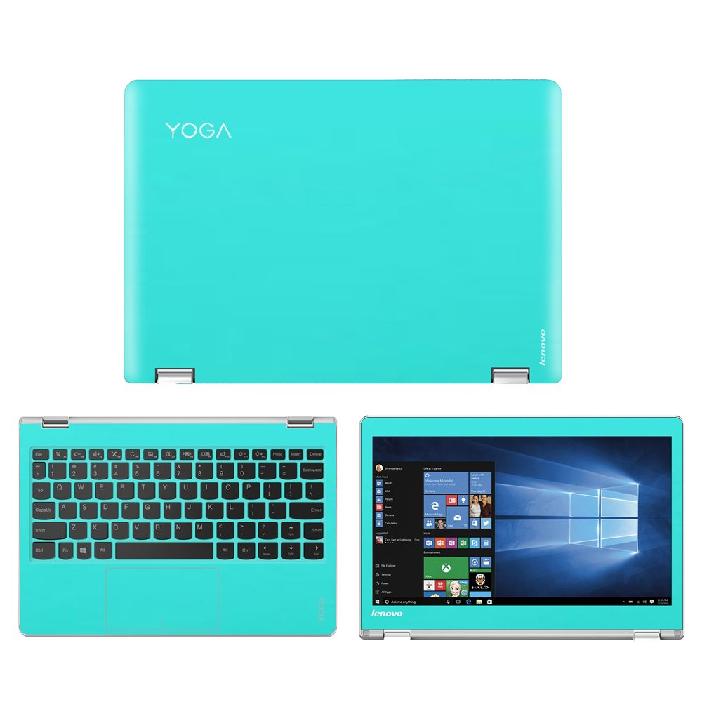 Mint Green skin decal wrap skin Case for Lenovo Yoga 710 11 11.6'' Touch Screen Laptop