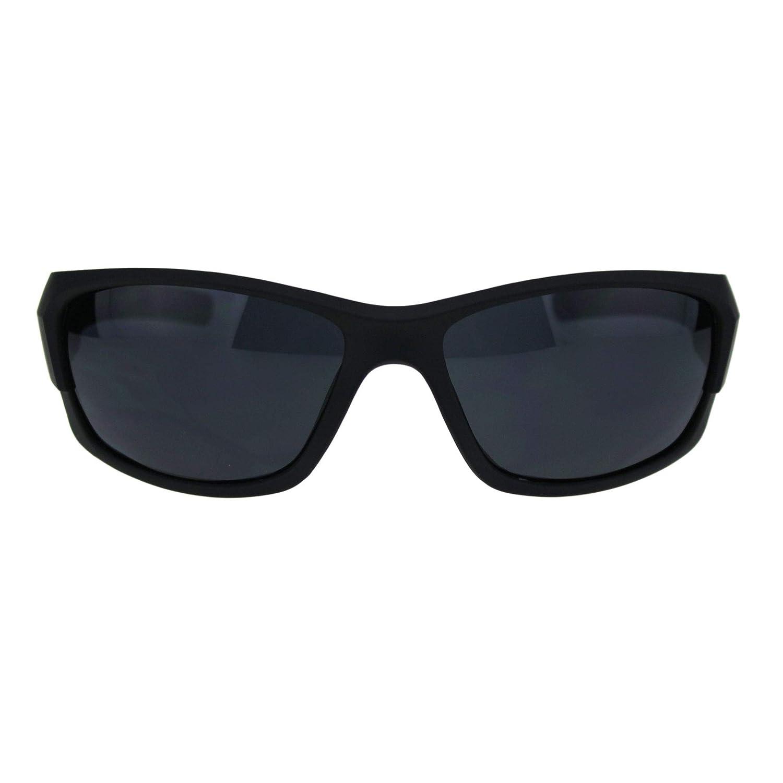 Classic 90s All Black Sport Warparound Biker Gangster Sunglasses