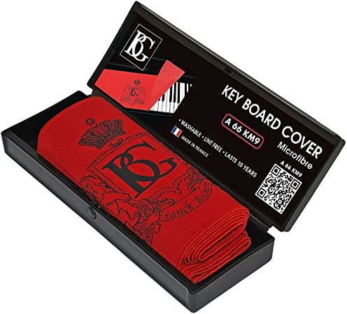 BG A66 KM 9 - Cubierta para teclado de piano, color rojo
