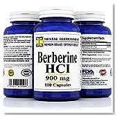 Mental Refreshment: Berberine 900mg, 180 Capsules (1 Bottle)