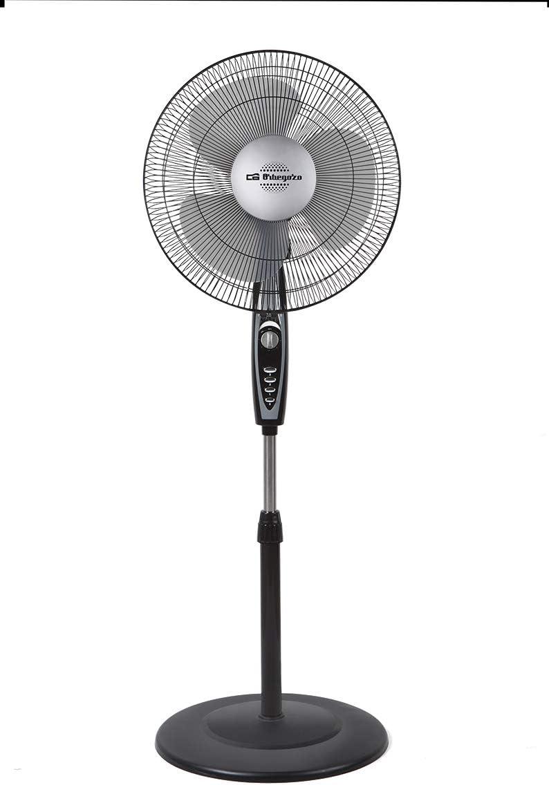 Orbegozo SF 3347 – Ventilador de pie, 3 velocidades, temporizador de hasta 2 horas, 40 cm de diámetro, potencia 50 W