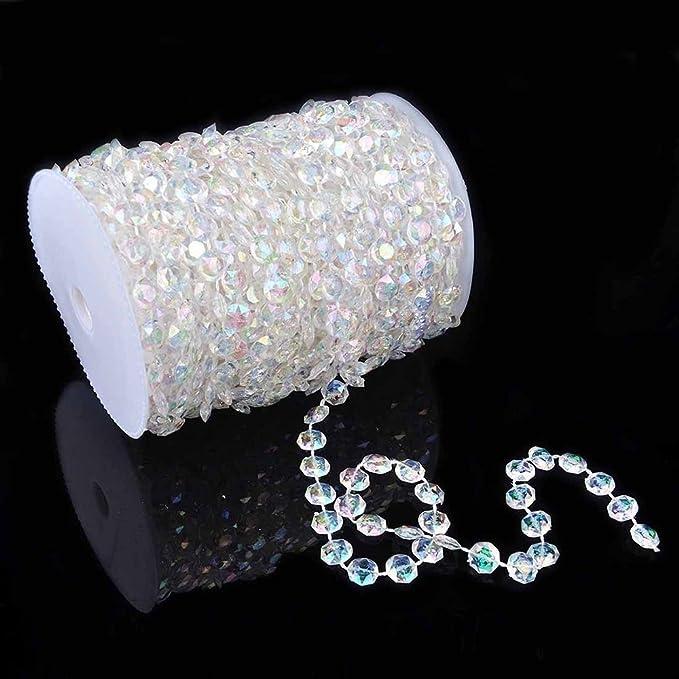 Hochzeits-Acrylgirlanden-Diamant-Kristallkorn-Leuchter-hängende Dekoration