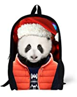 Cool 3D dog wear hat Children 16-inch School Book Bag Printing Backpacks For Kids,Boys or Girls