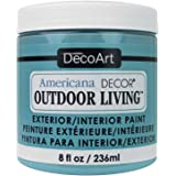 DecoArt 8ozTurquoiseSky Americana Outdoor Living 8oz Turquoise Sky