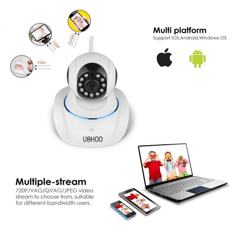 IP Camera, UOKOO 720P Wireless Security Camera Internet Surveillance Camera with Pan/Tilt and 2-Way Audio use for Pet Monitor, Puppy Cam, Baby Monitor and Nanny Camera C42 by UOKOO (Image #2)
