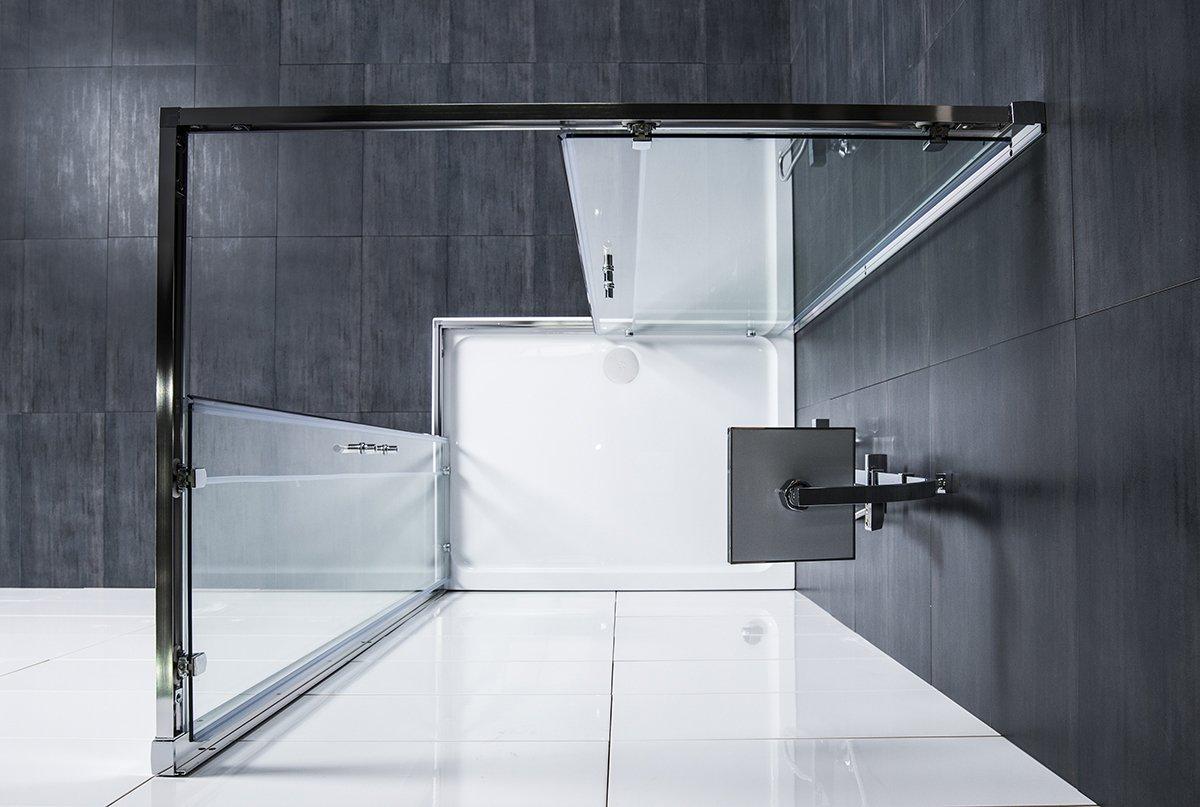Aquariss 1200 x 900mm Offset Corner Entry Shower Enclosure - FREE ...