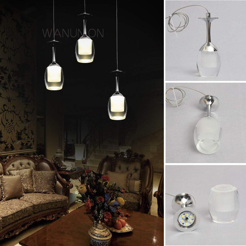 FidgetGear Modern LED Wine Glass Bar Ceiling Light Pendant Lamp Fixture Lighting Chandelier