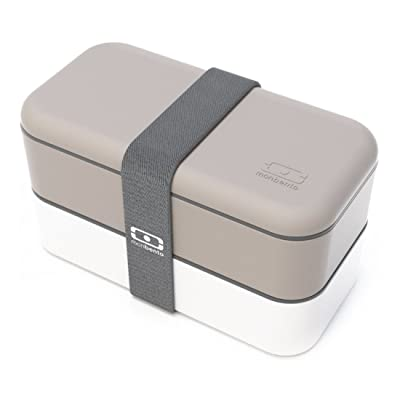 monbento MB Original Bento Box, Grey/White