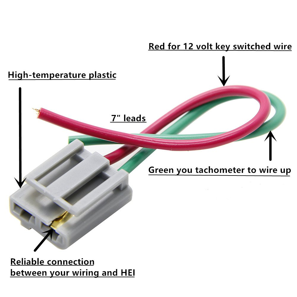 New Hei Distributor Wire Harness Pigtail Dual 12v Power And Tach Jbl Wiring Connectors 170072 By Konduone 1pcs