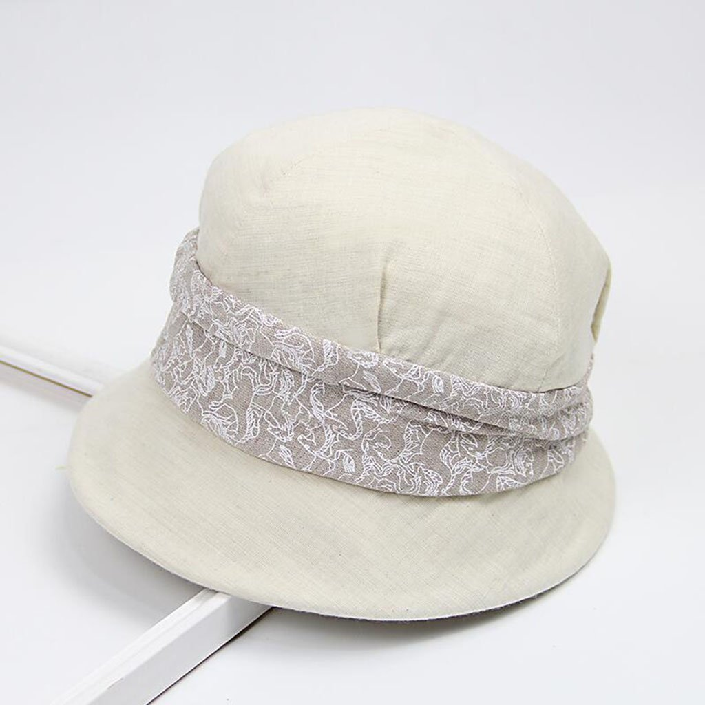 Beige QZ Home Simple Outdoor Travel Fisherman's Hat Visor Sunhat Collapsible Basin Hat Hat Ms (color   Beige)