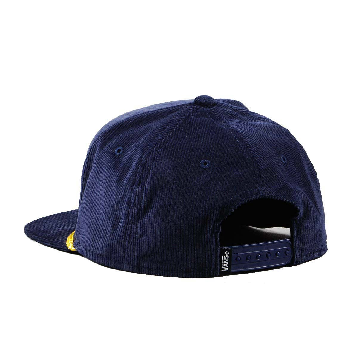 Vans Off The Wall Mens Bardwell 6 Panel Corduroy Hat Cap - Dress Blue at Amazon Mens Clothing store: