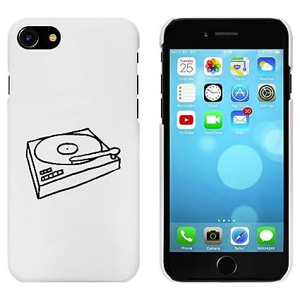 Azeeda Blanco Tocadiscos Funda para iPhone 7 (MC00077716 ...