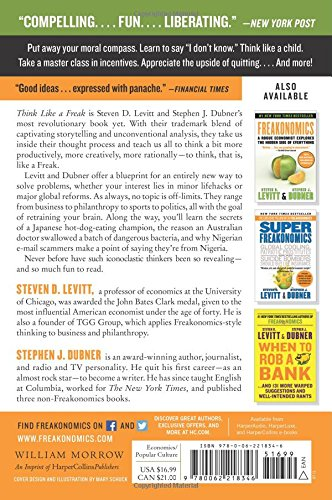 freakonomics book thesis Levitt and dubner refer to many controversial topics when explaining their thesis in the book, in one chapter levitt explains the crime fall in the 90's and credits it with the legalization of abortion in the 70s.