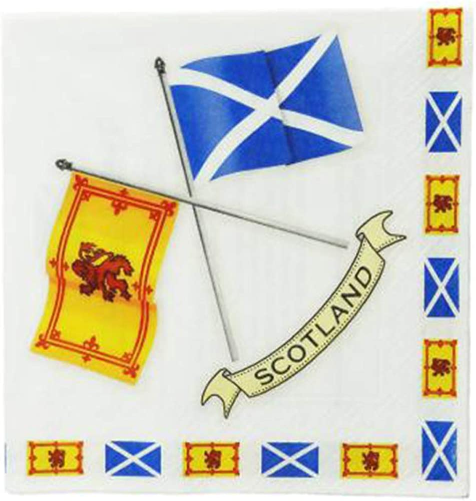 Pack of 20 Scottish Flags Napkins Serviettes
