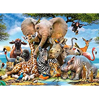 FUNZLE Animals Puzzles for Adults 1000 Piece, Jigsaw Puzzles 1000 Pieces for Adults, Kids, Wildlife, Educational Toys & Fun Games