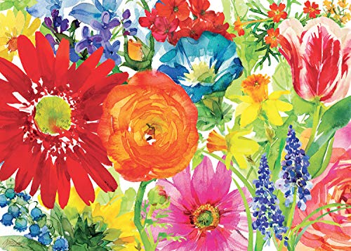 Ravensburger Abundant Blooms 1000 Piece Jigsaw Puzzle for Adults - Every Piece is Unique, Softclick Technology Means Pieces Fit Together Perfectly ()
