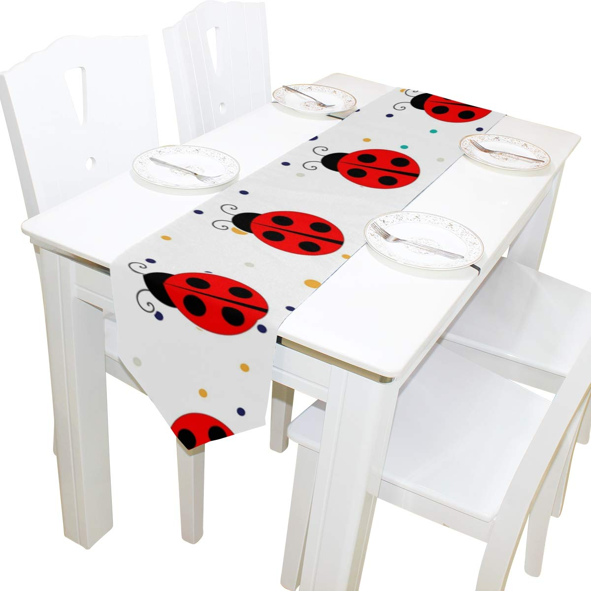 Amazon.com: Caminos de mesa HHatt rojo Ladybug decoración ...