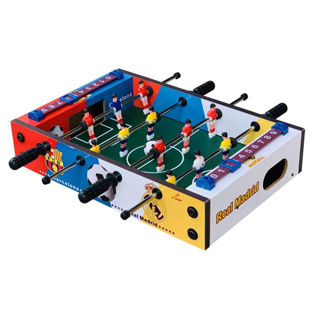 Table Top Foosball Table for Adults and Kids - Compact Mini Tabletop Soccer Game Portable Recreational Hand Soccer for Game Room & Family Game Night (Color : Color, Size : 34.5x21.5x8cm) by Forgiven