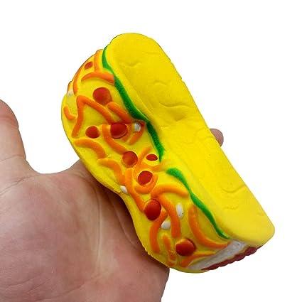 EUZeo_Toy Juguete para niños de 14 cm con aroma a hamburguesa, juguete para aliviar el