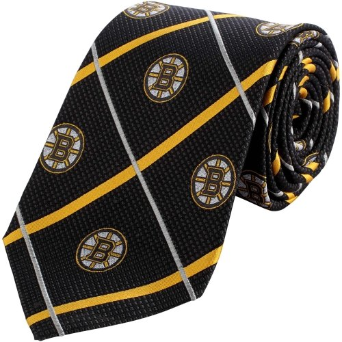 Boston Bruins NHL Silver Line Woven Silk Neck Tie Eagles Wings
