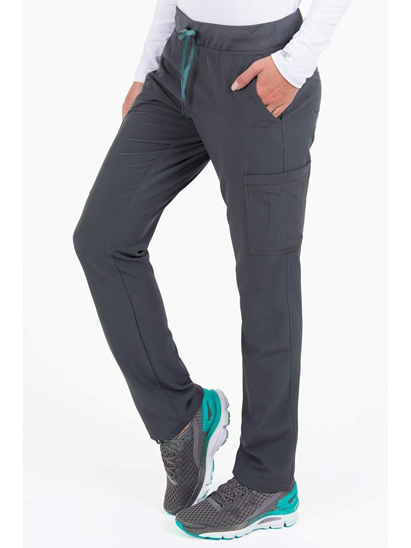 b3f81de4f2 Med Couture Air Scrubs for Women, Yoga 2 Cargo Pocket Pant, Pewter/Aruba  Blue, Small