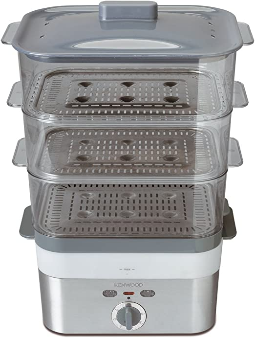 Kenwood FS620 - Cocedor al vapor, 2000 W, 3 cestas rectangulares ...