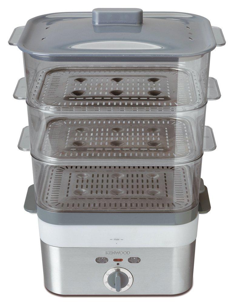 Kenwood FS 620 Vaporiera elettrica 2000 W, timer 60 minuti, 12 l, 3 cestelli trasparenti impilabili con inserti 40030079 0WFS620002