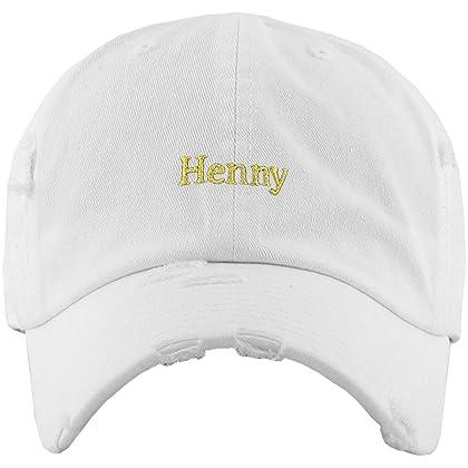 b0a9ed4dfa2 ... KBSV-023 WHT Henny Dad Hat Baseball Cap Polo Style Adjustable ...