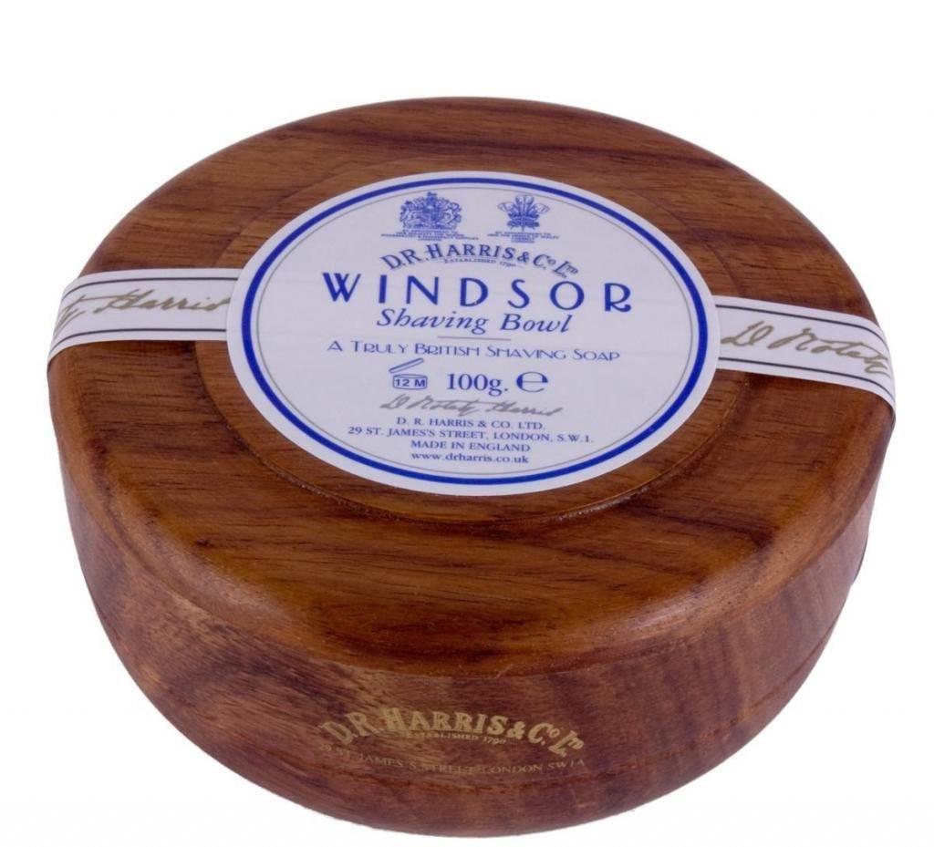 D.R.Harris & Co Windsor Mahogany Effect Shaving Bowl & Shaving Soap dr-shave-mahog-wind-100