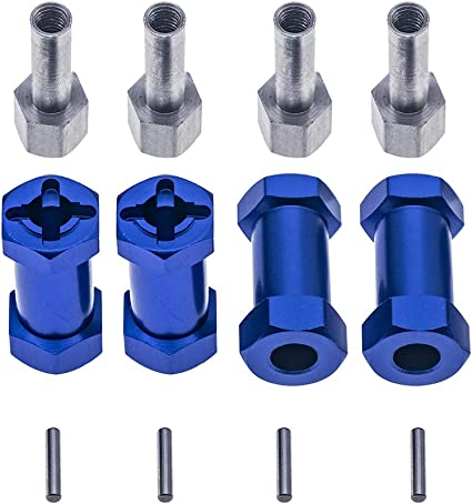 12mm Hub Hex 20mm Extended Adapter for 1//10 Wraith CC01 AXIAL SCX10 D90 AX10