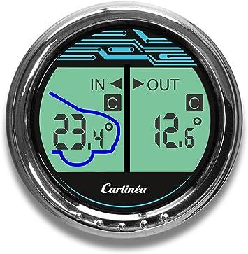 Thermomètre de voiture CARLINÉA à affichage digital de la température intérieure et extérieure