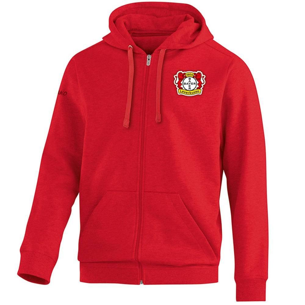 JAKO Bayer 04 Leverkusen Kapuzenjacke Team - rot