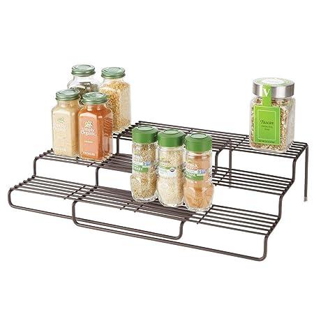 placard pour mDesign d'ordre dans la en plus – la – étagère cuisine épice de à métal cuisine télescopique étagère épices le rangement pour cuisine FJTl1Kc3