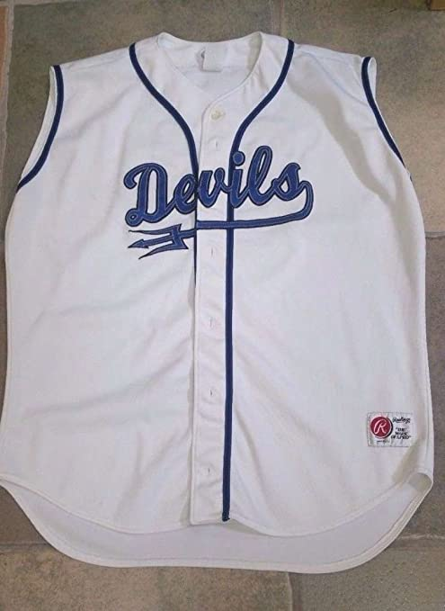 best service 60b61 eba9e DUKE BLUE DEVILS - GAME USED BASEBALL JERSEY - ACC at ...