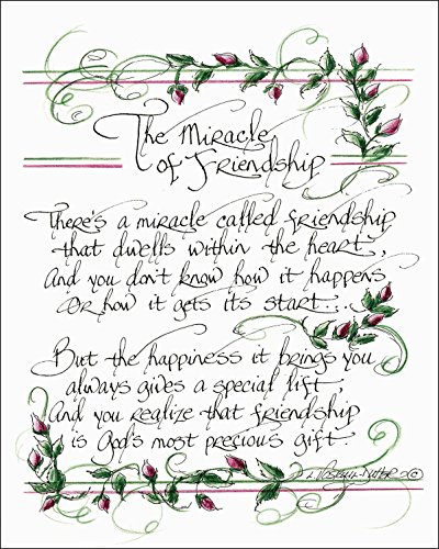 Friendship Wall Plaque - LPG Greetings The Miracle of Friendship Plaques, 8 by 11-Inch