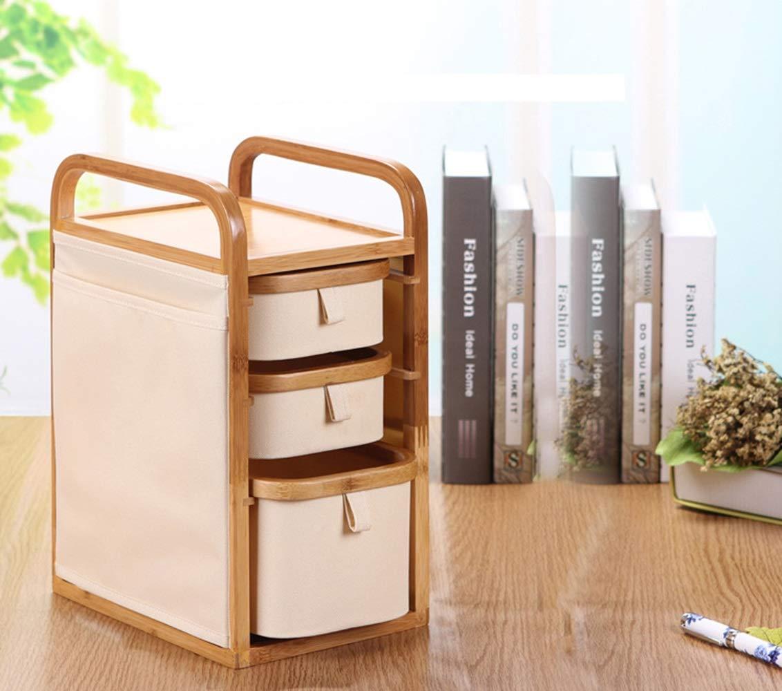 FELICIAAA 化粧品デスクトップコレクションボックス家庭用引き出しタイプクリエイティブ多層ジュエリーコレクションボックス (Color : Wood) B07PLKDSQM Wood