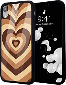idocolors Love Heart Printed Case for iPhone 7/8,Shockproof Protective Case with Soft TPU Bumper Hard Back Scratch Resistant Girly Abstract Painting Art Cover Case for iPhone SE 2020