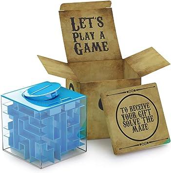 Huchas Originales aGreatLife Caja Money Maze Laberinto De Dinero | Cubo Puzzle Rompecabezas | Idea Original