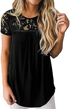 Sttech1 Womens Short Sleeve V-Neck Leopard Print Irregular Shirt Top