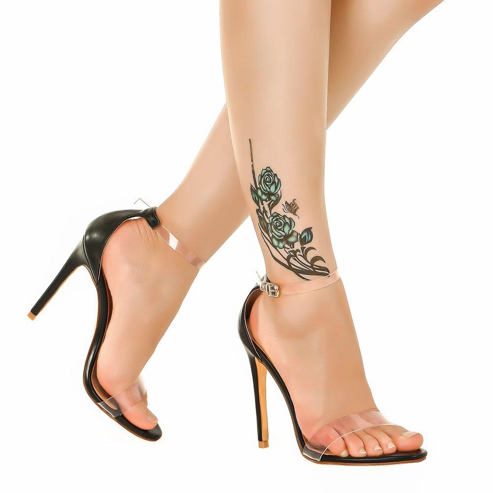 def545437366 Amazon.com  Shoe N Tale Women s Lucite Clear Ankle Strap High Heel Sandals   Shoes