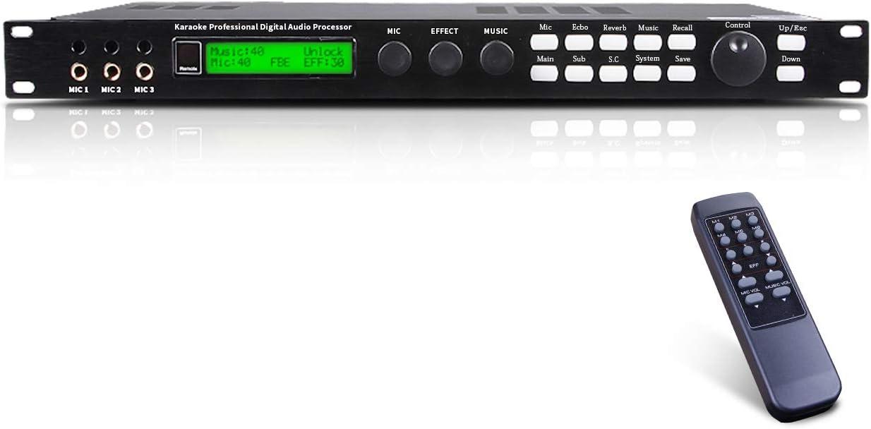 Depusheng X5 Karaoke Professional Digital Audio Processor Can Set via a PC Interface Prevent Howling