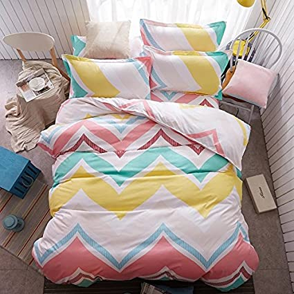 Ahmedabad Cotton 144 TC Cotton Double Bedsheet with 2 Pillow Covers - Multicolour