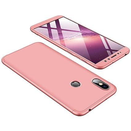 Ququcheng Funda Xiaomi Redmi S2,Carcasa Xiaomi Redmi S2[con Protector de Pantalla] 3 en 1 Desmontable 360°Protection Case Ultra-Delgado Cover Caso La ...