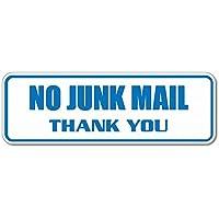 No Junk Mail Thank You Blue Sticker
